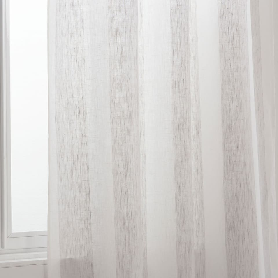 TWO-TONE LINEN CURTAIN
