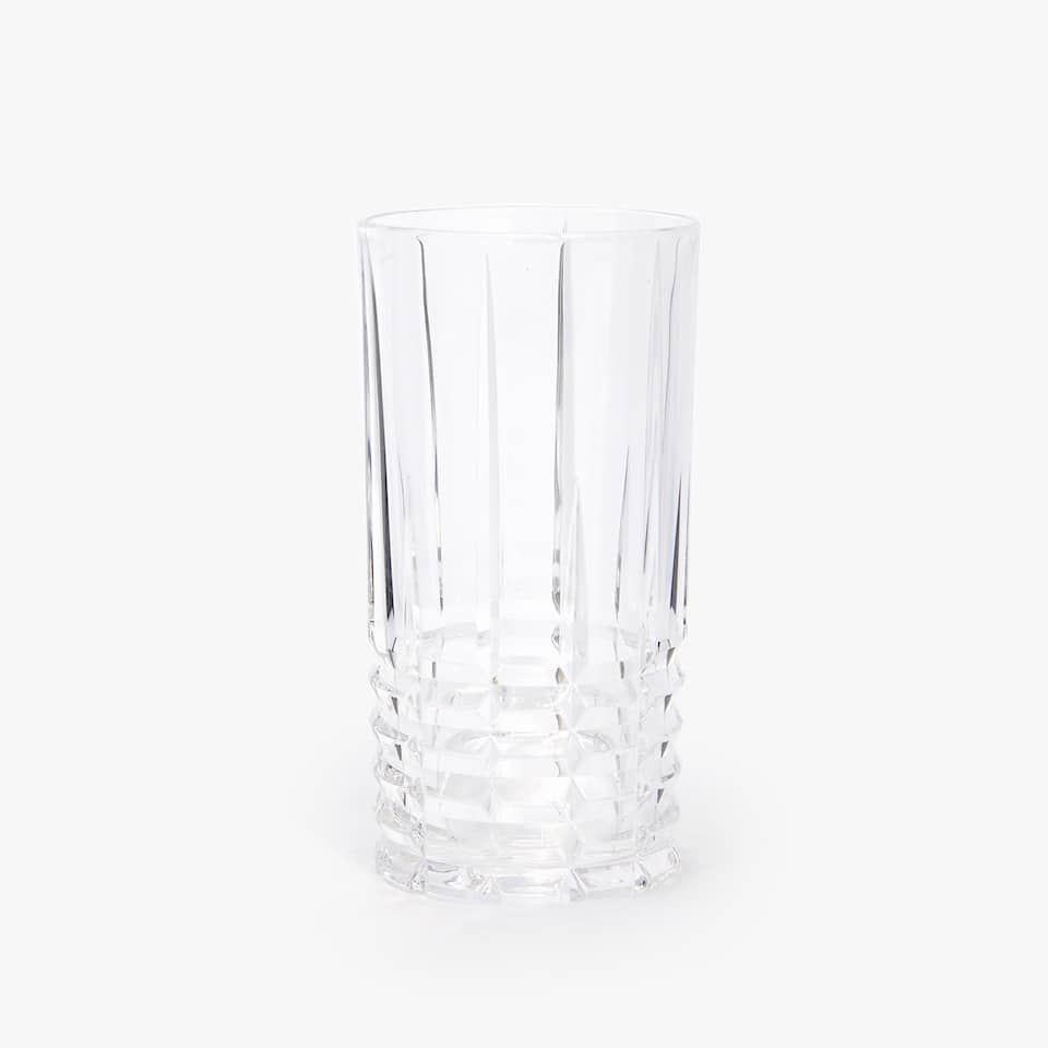 CUT GLASS SOFT DRINK TUMBLER