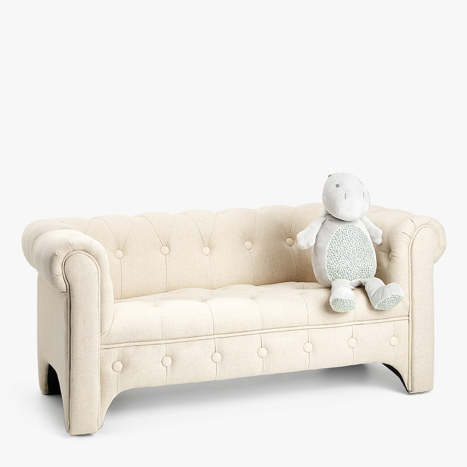 TWO SEATER UPHOLSTERED COUCH