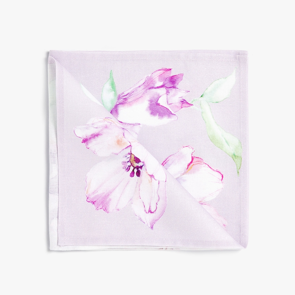 FLORAL PRINT NAPKIN (PACK OF 4)