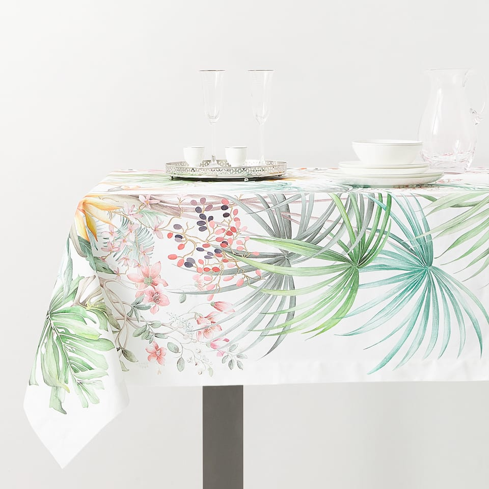 NAPPE FEUILLES TROPICALES