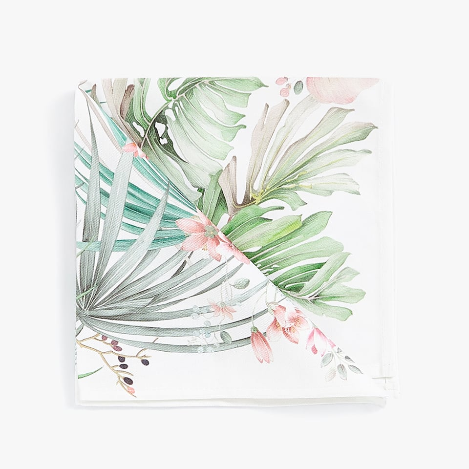 TROPICAL LEAF NAPKIN (PACK OF 4)