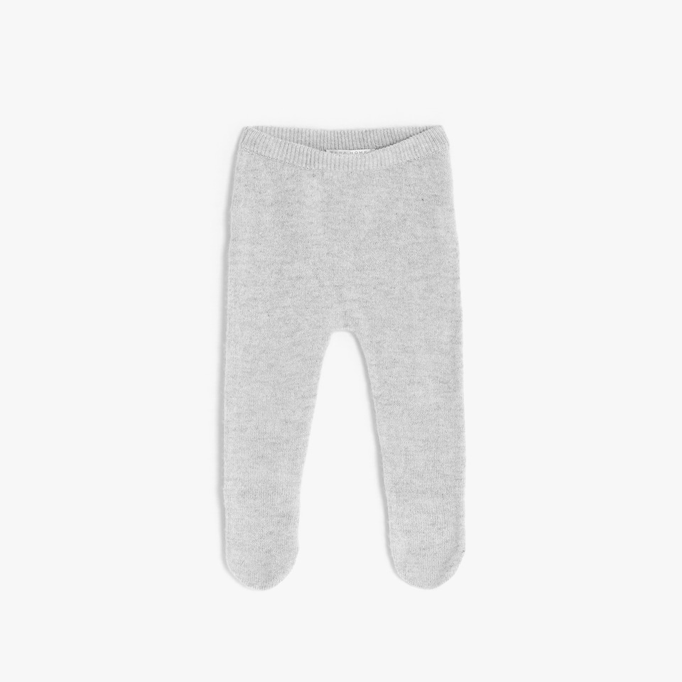 GREY CASHMERE FOOTED LEGGINGS