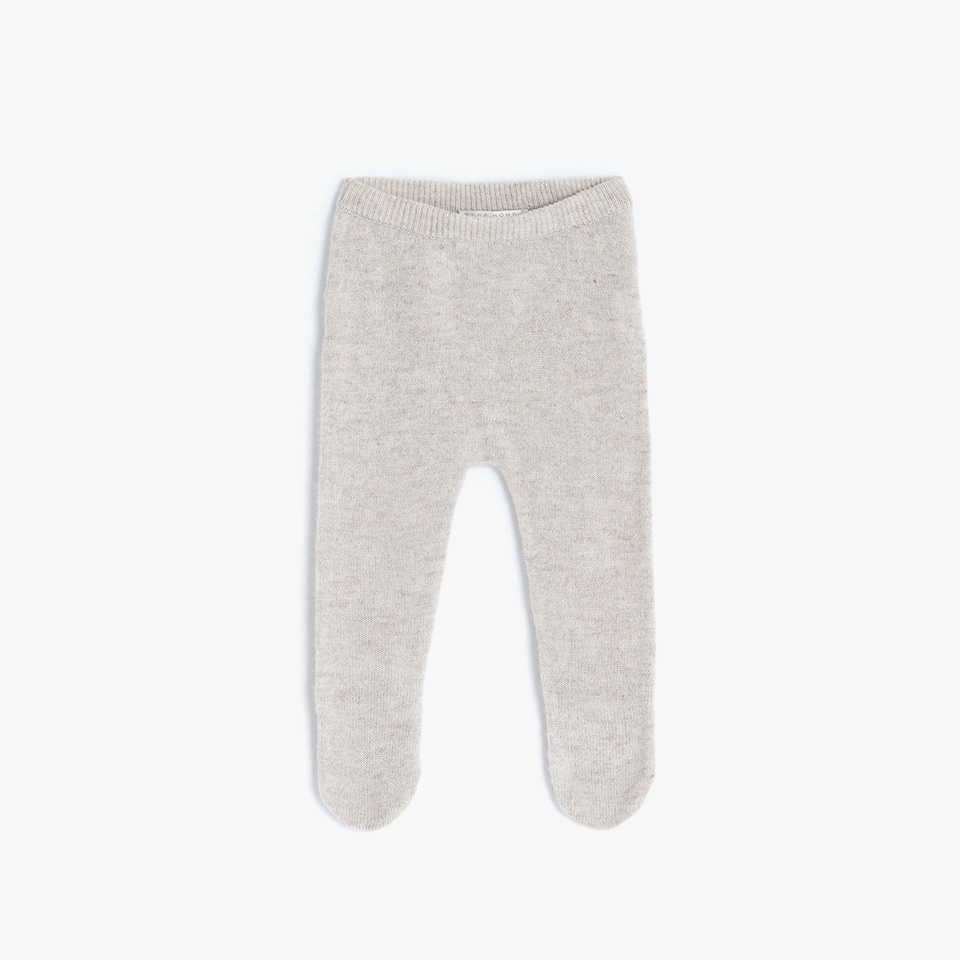 CAMEL CASHMERE FOOTED LEGGINGS