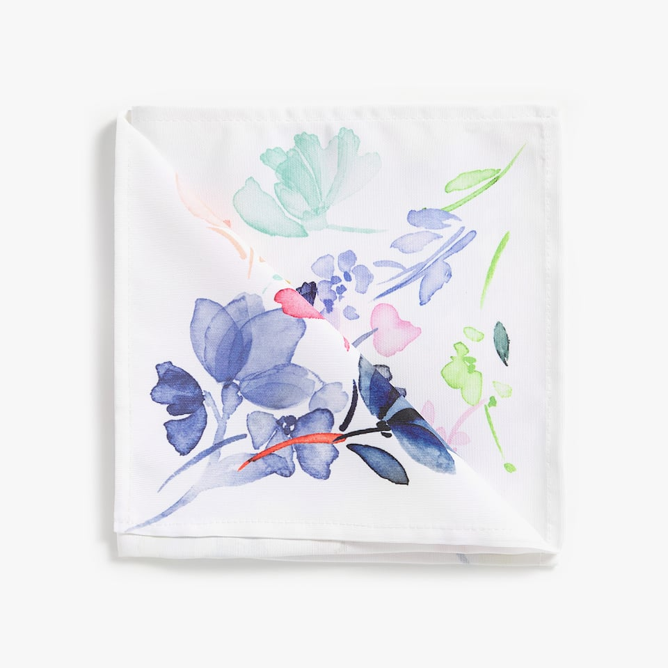 WATERCOLOUR-EFFECT FLORAL NAPKIN (pack OF 4)