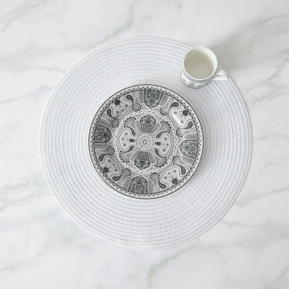 ROUND SHIMMER PLACEMAT (PACK OF 2)