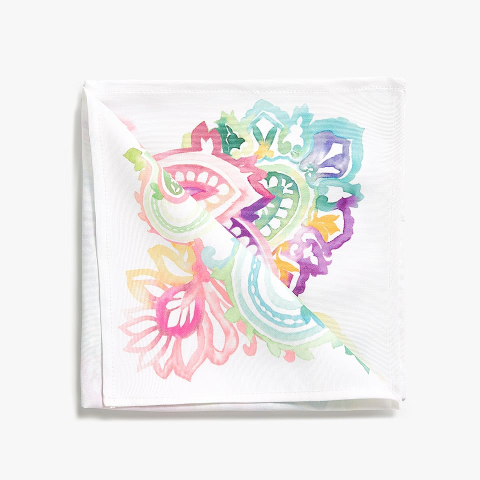 PAISLEY PRINT NAPKIN (PACK OF 4)