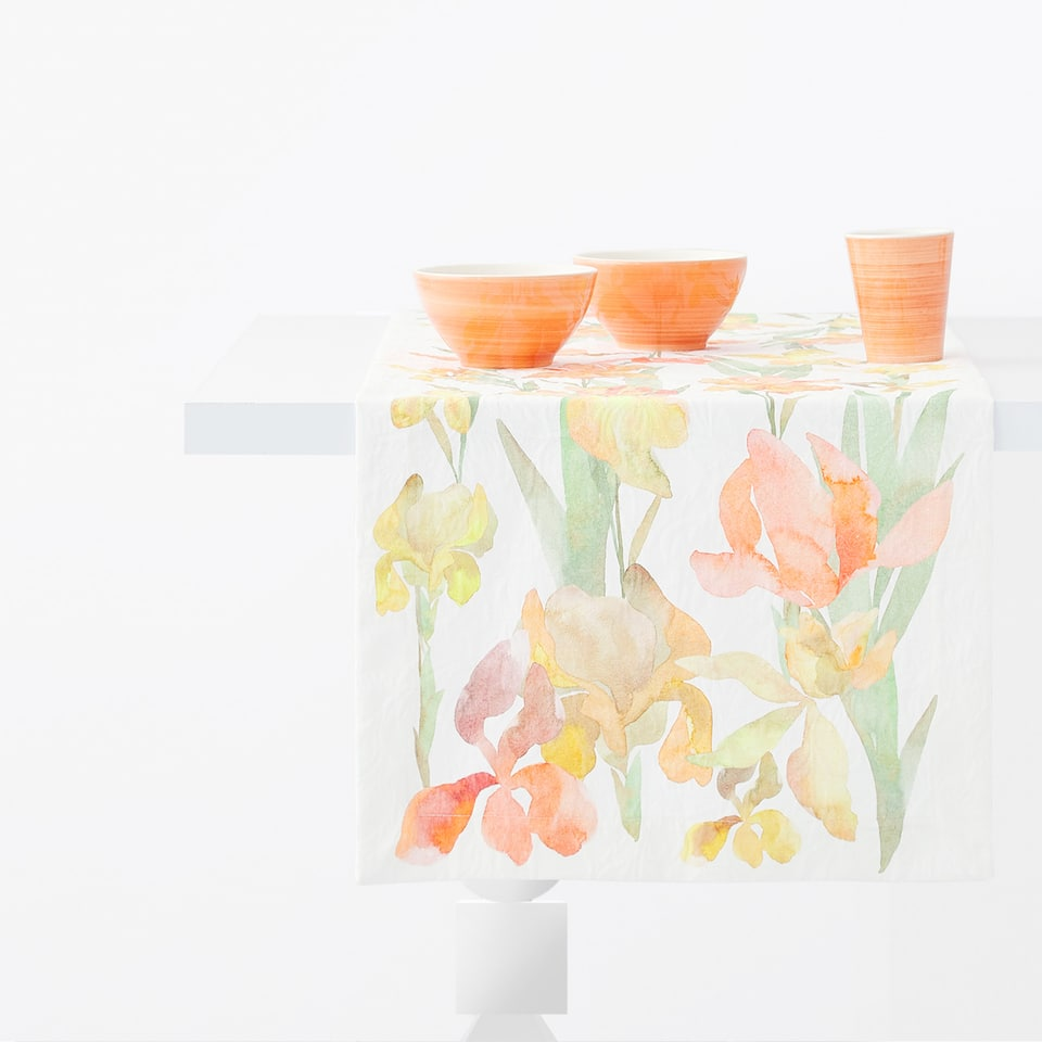 CHEMIN DE TABLE JACQUARD FLORAL