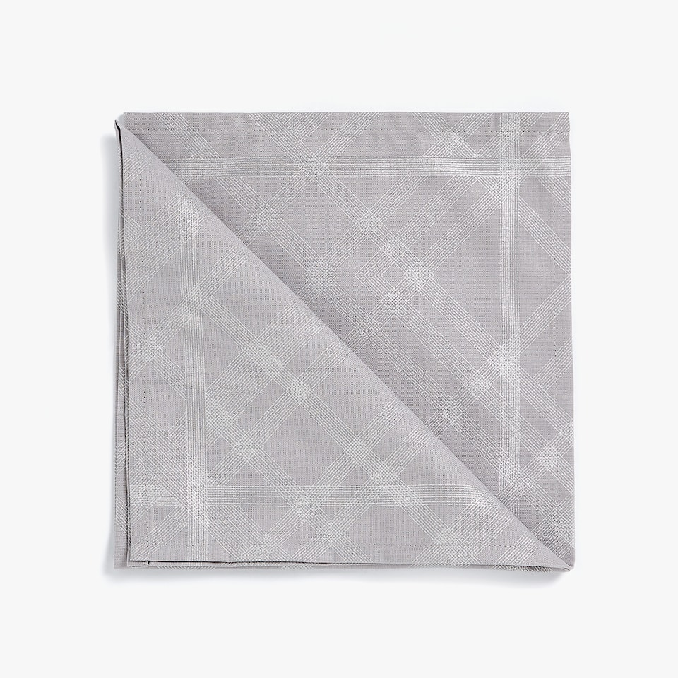 GEOMETRIC PRINT NAPKIN (PACK OF 4)