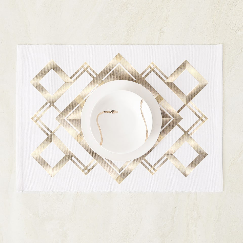 GEOMETRIC PRINT PLACEMAT (PACK OF 2)
