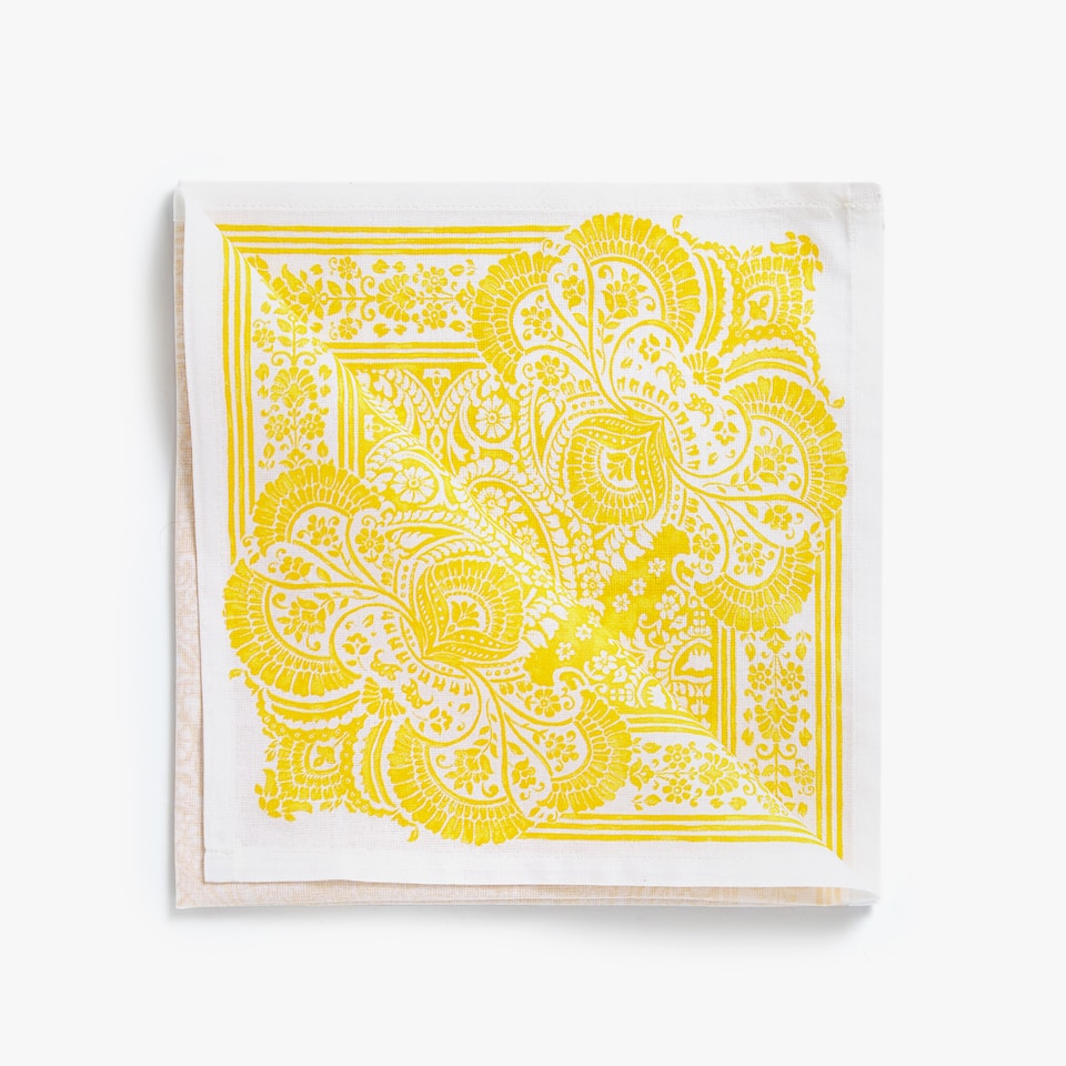 FLORAL PAISLEY NAPKIN (PACK OF 4)