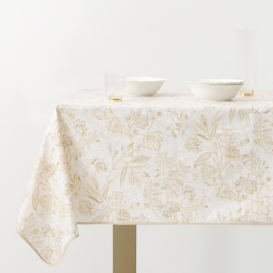 PLANT PRINT TABLECLOTH