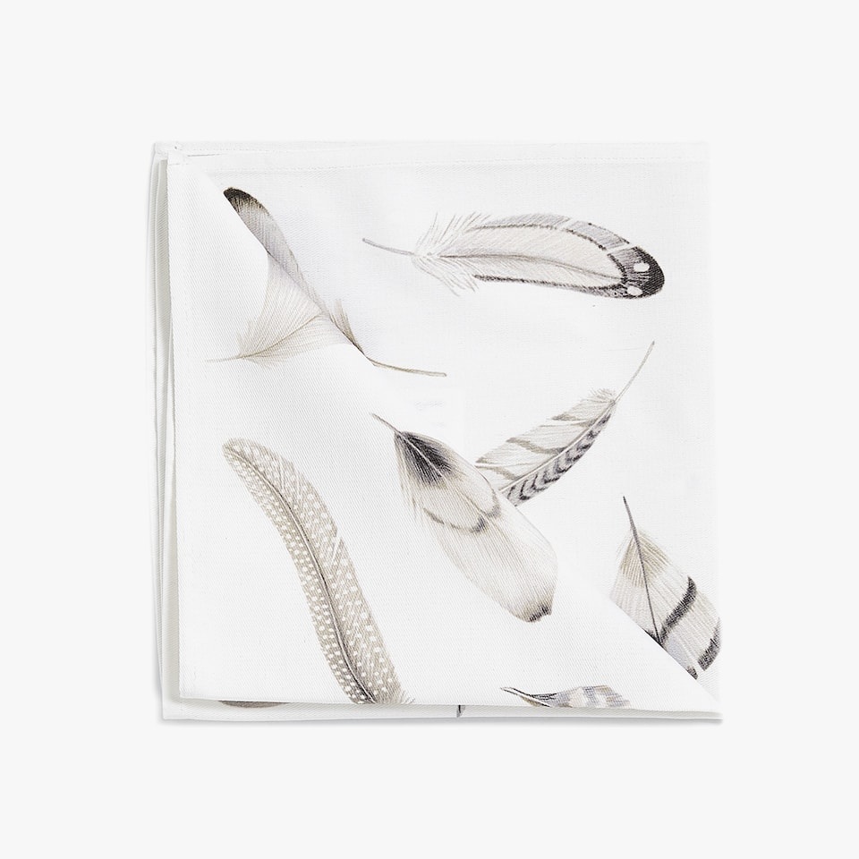 FEATHER PRINT NAPKIN (PACK OF 4)