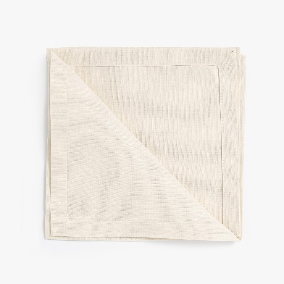 SERVIETTE DE TABLE DOUBLE ÉPAISSEUR (LOT DE 4)
