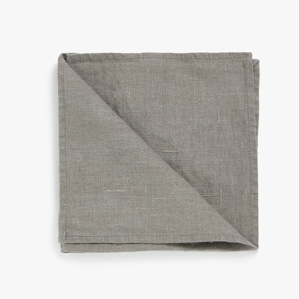SERVIETTE DE TABLE LIN DÉLAVÉ (LOT DE 4)