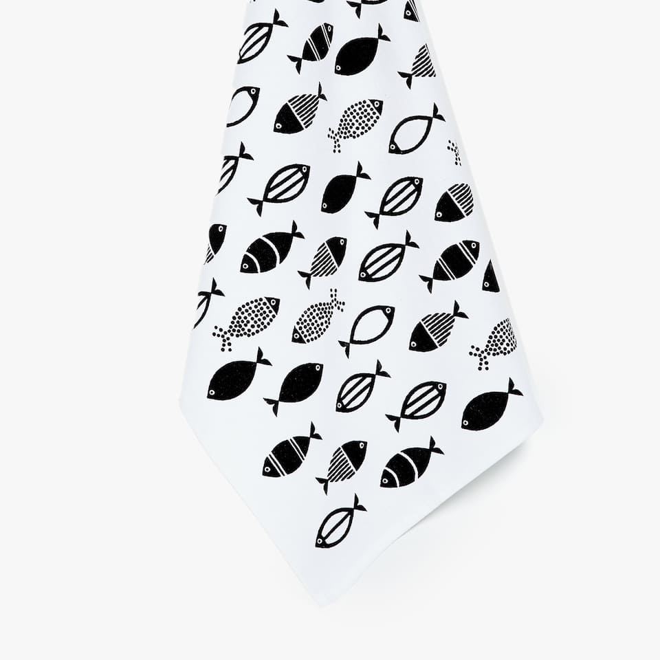 FISH PRINT KITCHEN TOWEL