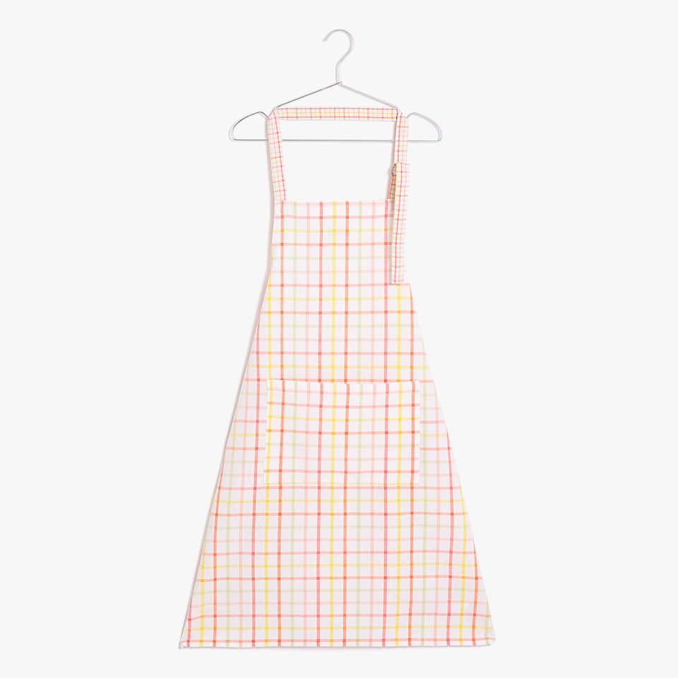 MULTICOLOURED CHECK APRON
