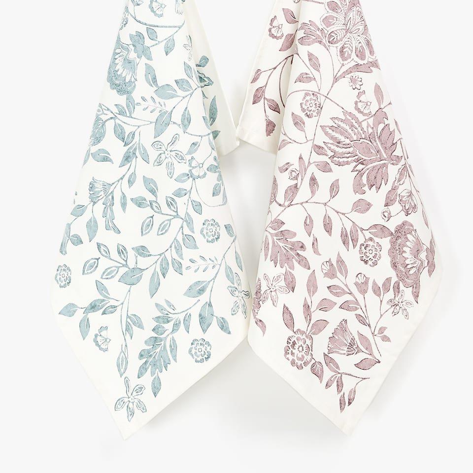 TREE PRINT TEA TOWEL (SET OF 2)