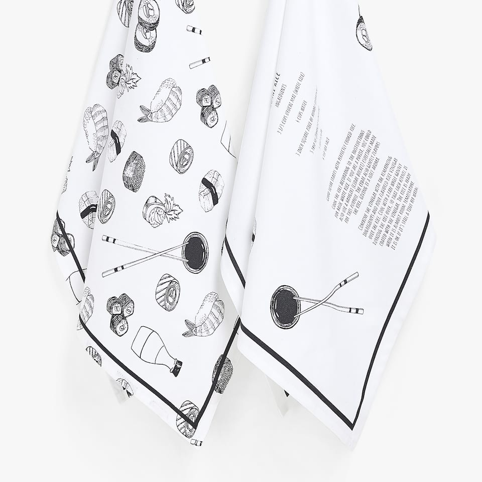 SUSHI PRINT TEA TOWEL (SET OF 2)