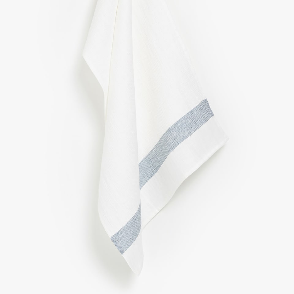LINEN TEA TOWEL WITH LINES