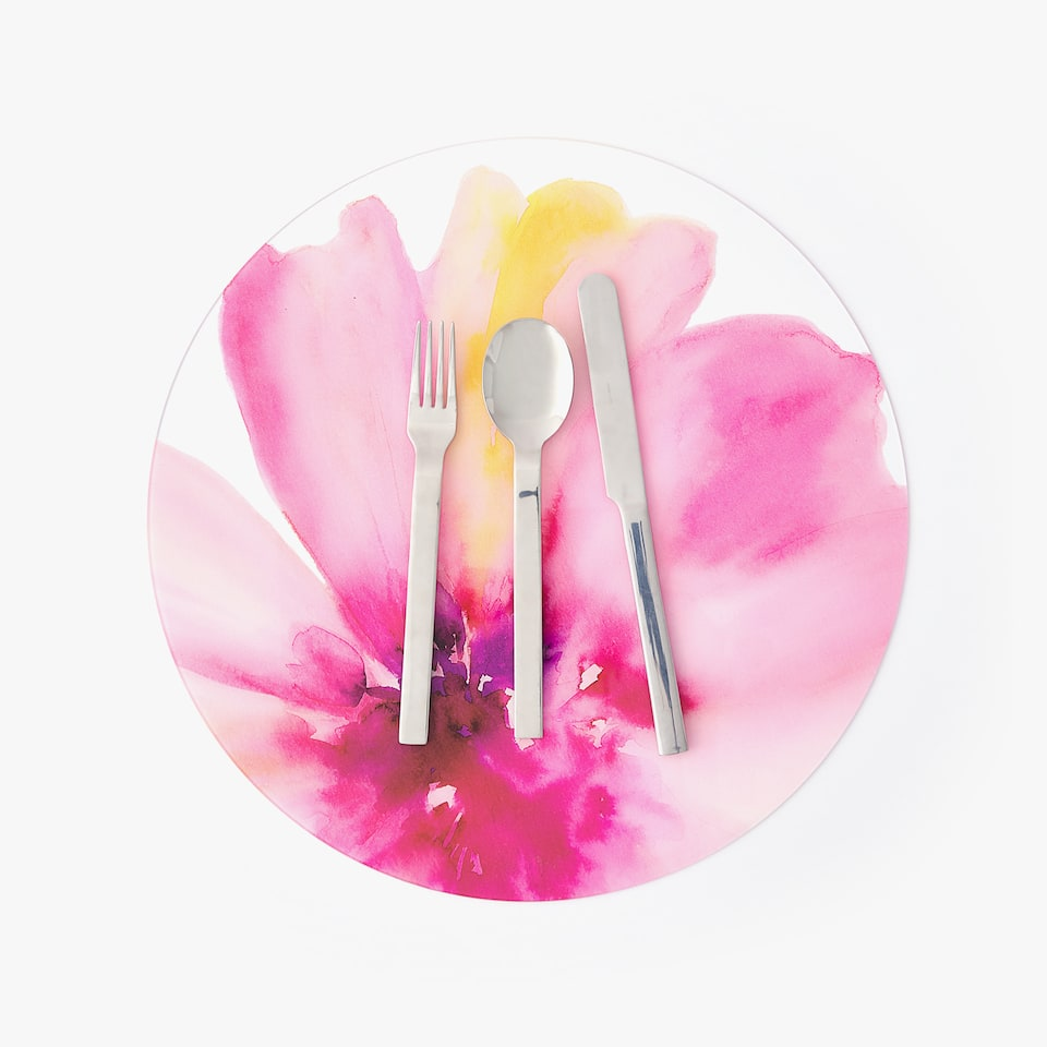 METHACRYLATE FLORAL PLACEMAT