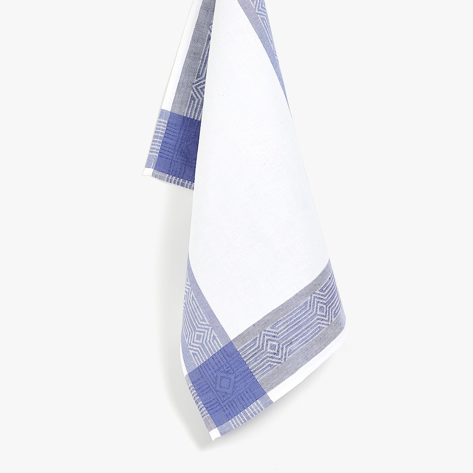 GEOMETRIC JACQUARD TEA TOWEL