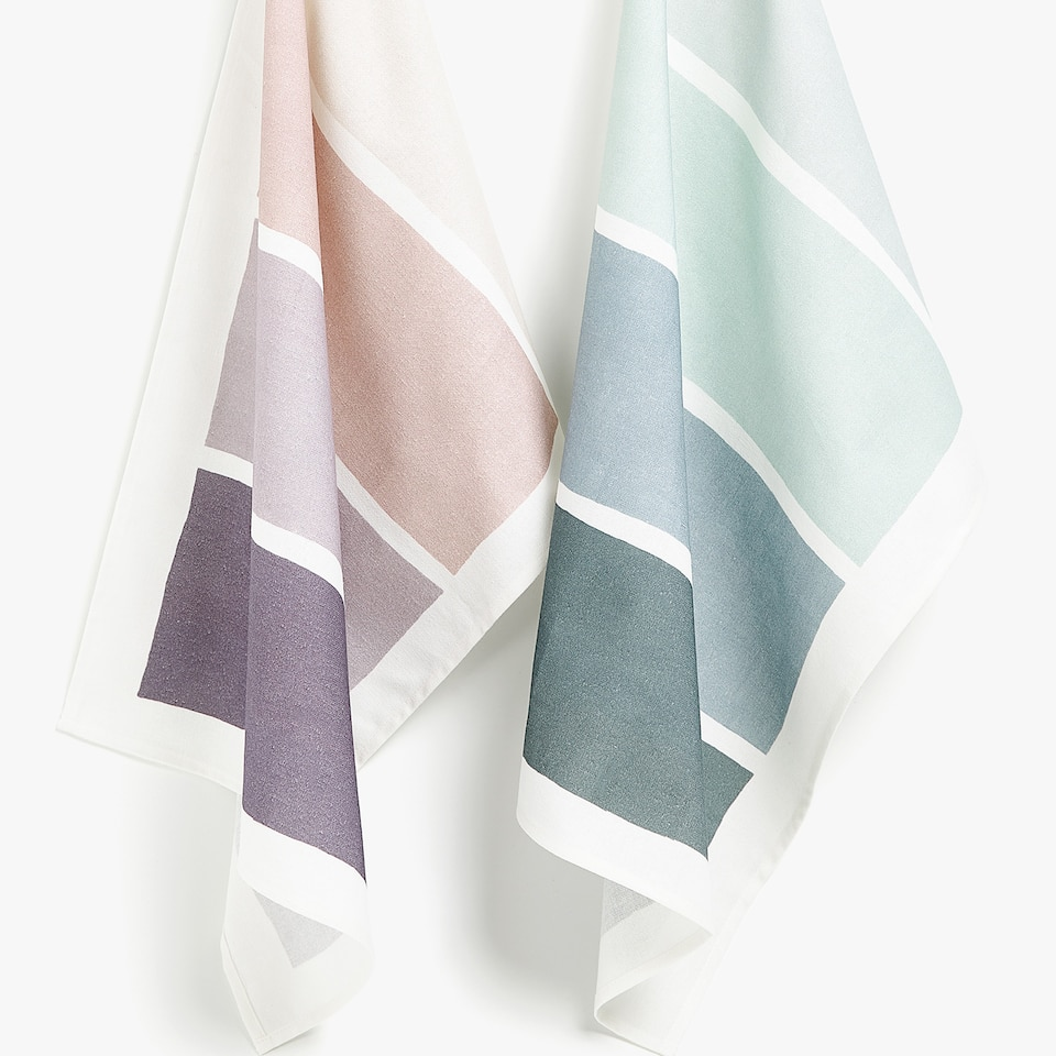 COLOUR BLOCK TEA TOWEL (SET OF 2)