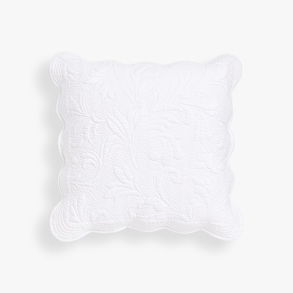 RAISED FLORAL DESIGN THROW PILLOW COVER
