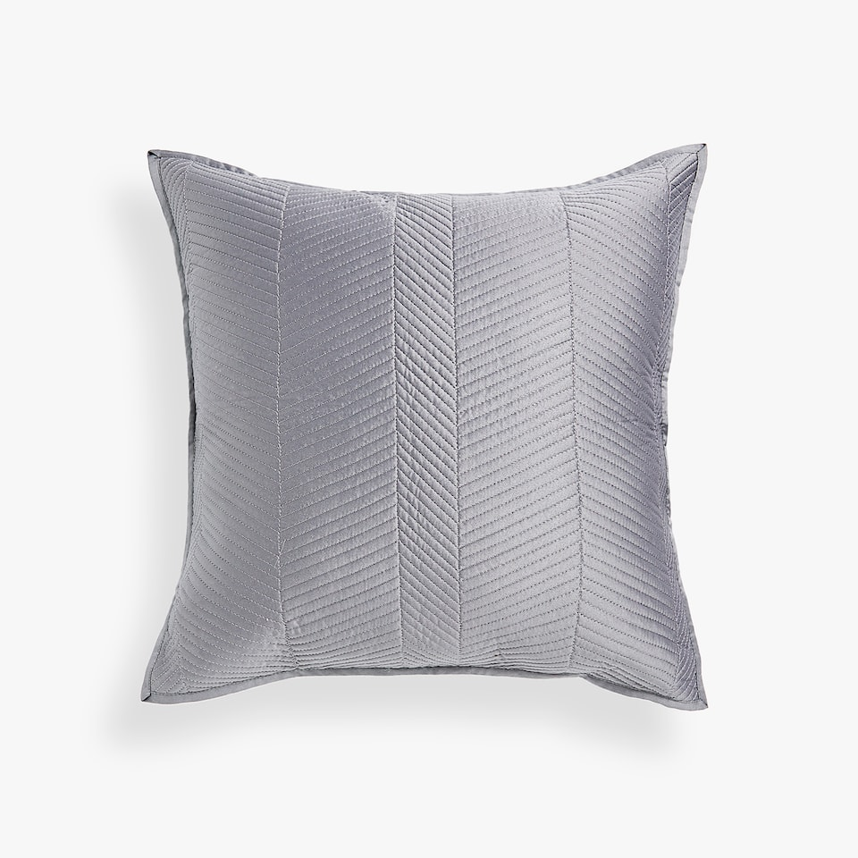 GREY HERRINGBONE DESIGN CUSHION COVER
