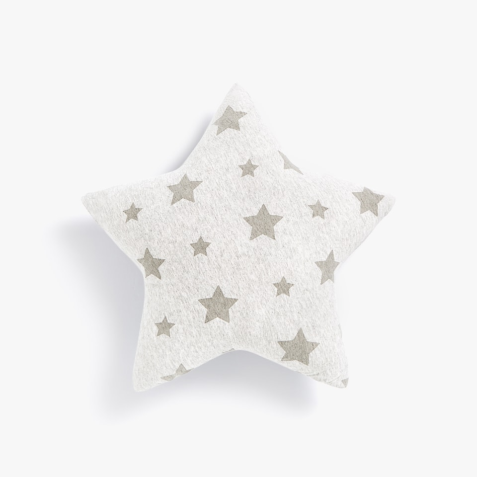 STARS PRINT JERSEY THROW PILLOW