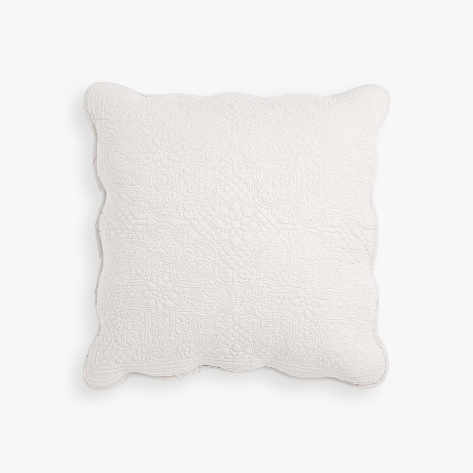 FADED EFFECT COTTON CUSHION COVER