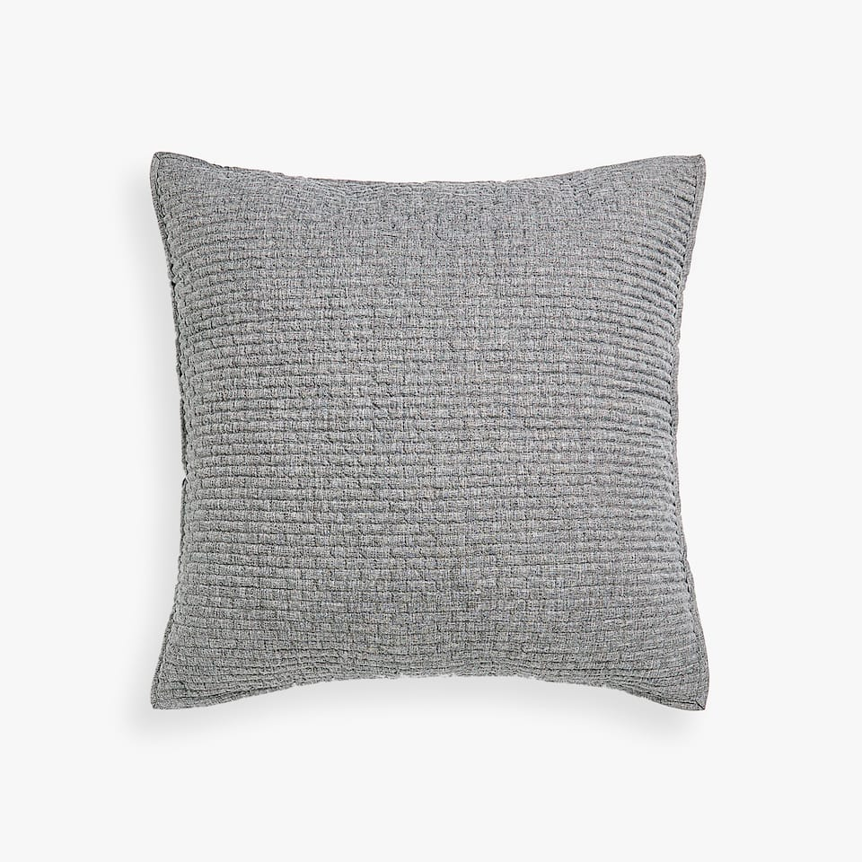 METALLIC SMOCKING THROW PILLOW COVER