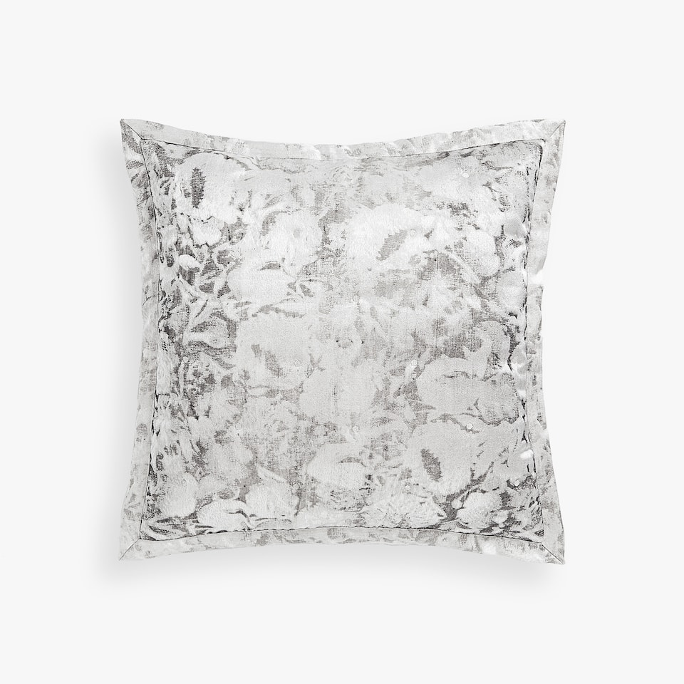 FLORAL JACQUARD THROW PILLOW COVER
