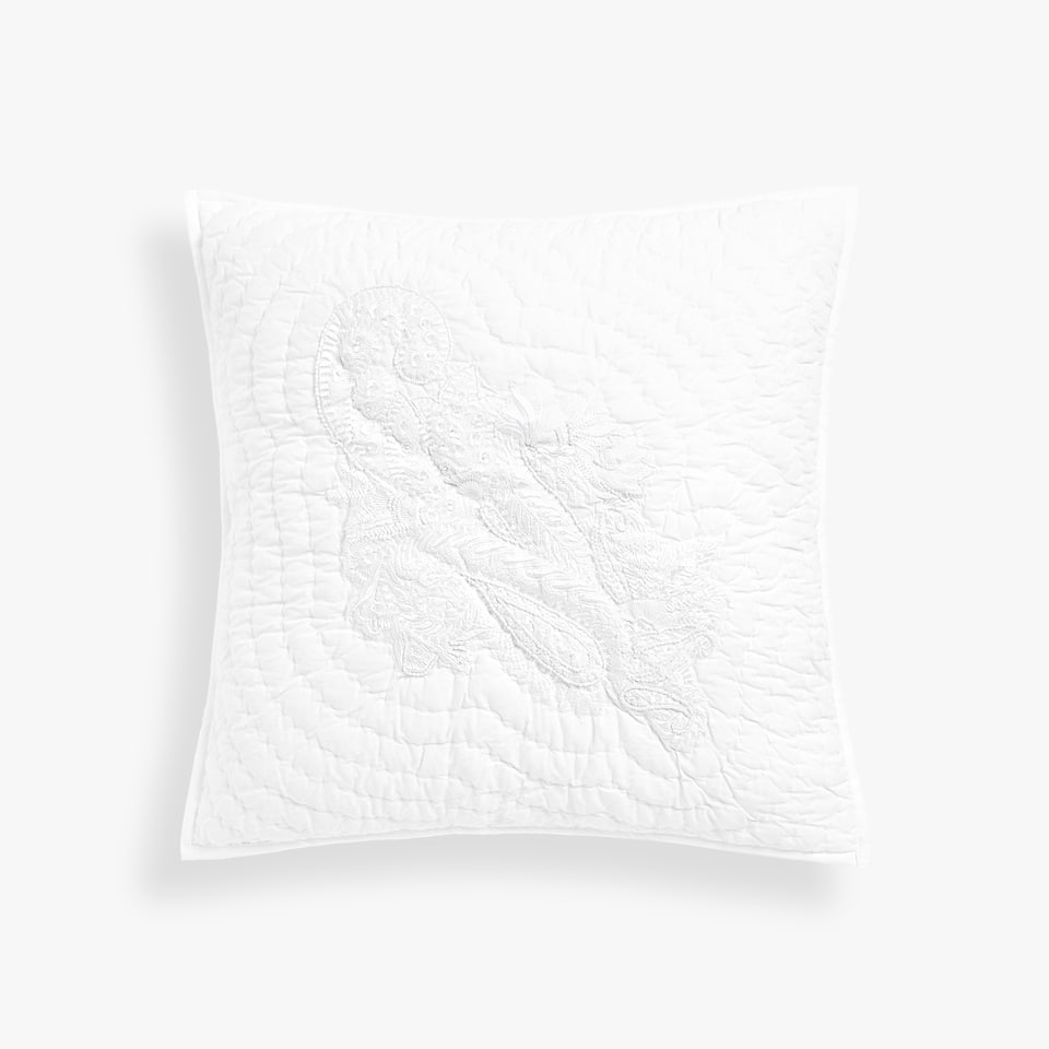 EMBROIDERED RHINESTONES CUSHION COVER