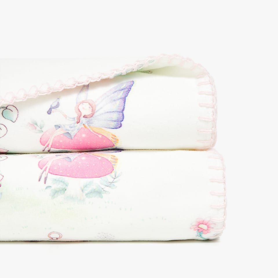 FAIRY PRINT FLEECE BLANKET