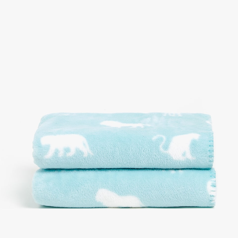 FLEECE BLANKET WITH ANIMALS