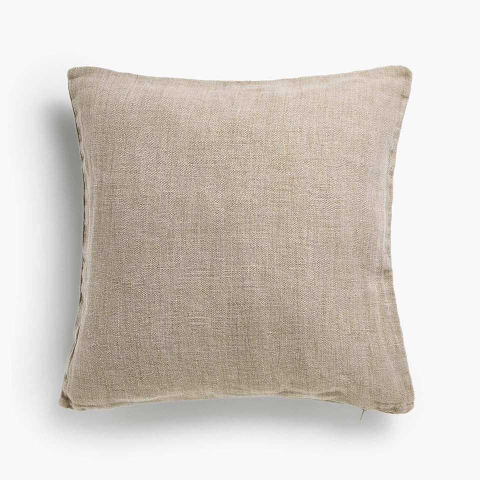 RUSTIC-STYLE LINEN CUSHION COVER