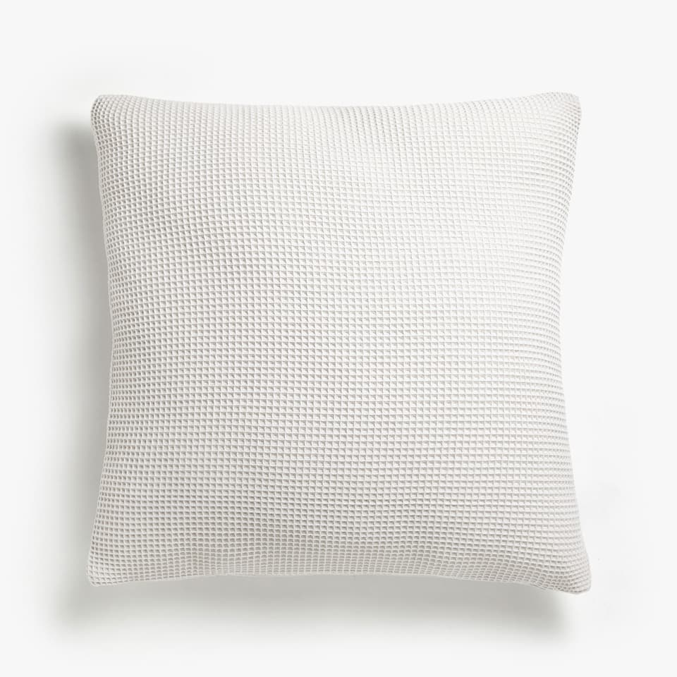MINI WAFFLE KNIT MESH COTTON CUSHION COVER