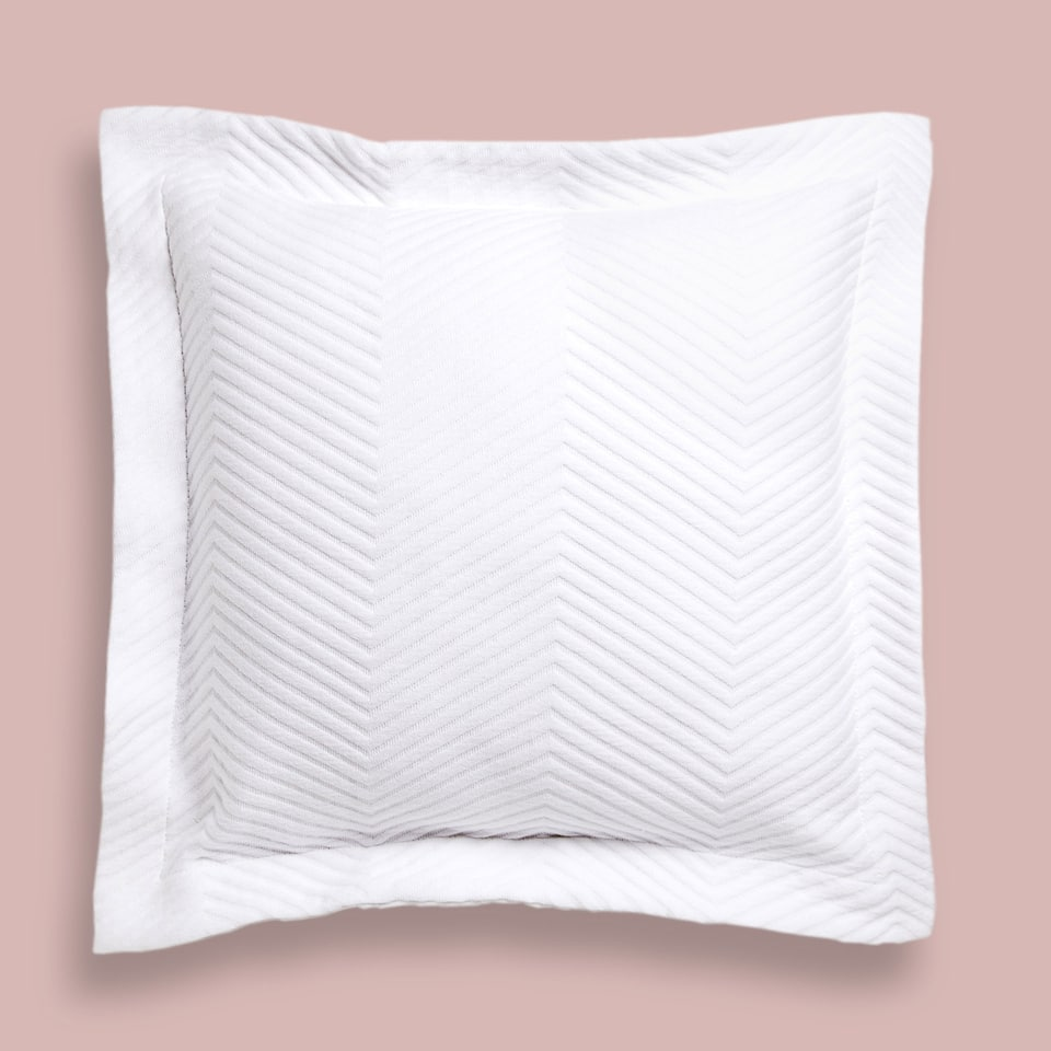 HERRINGBONE COTTON CUSHION COVER
