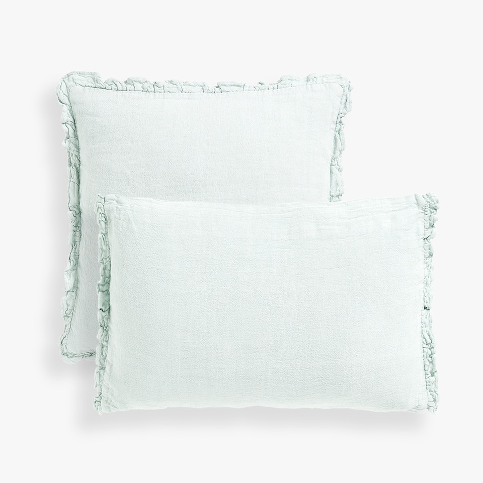 LINEN CUSHION COVER WITH FRILL