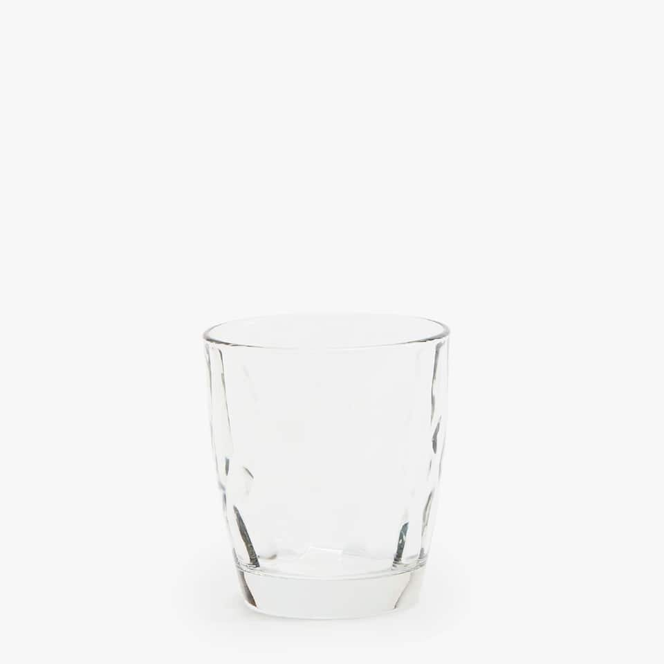 VASO AGUA RELIEVE INTERIOR DIAMANTE MARTILLADO