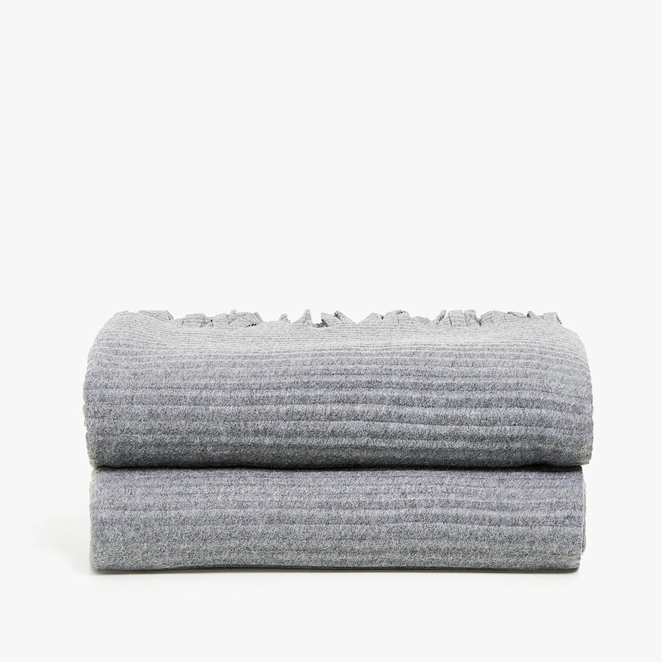 RAISED-DESIGN PLEATED BLANKET