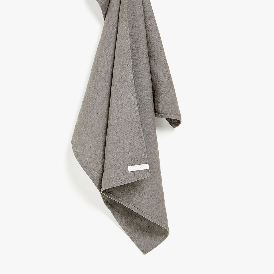 GREY WASHED LINEN KITCHEN TOWEL
