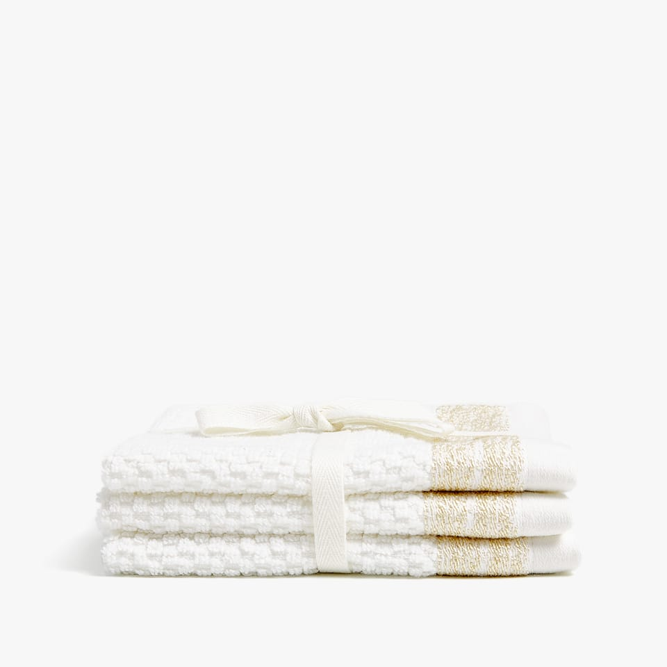 Serviettes de bain bordure (lot de 3)