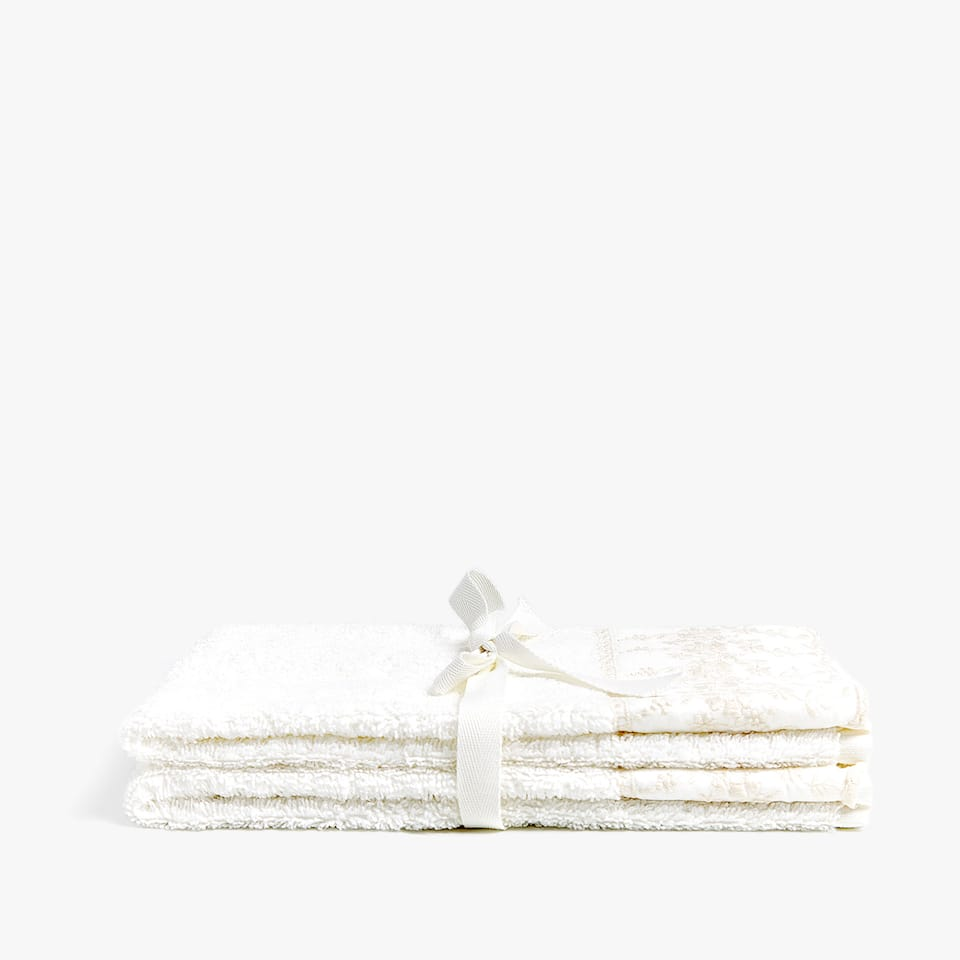 Embroidered towels (set of 2)