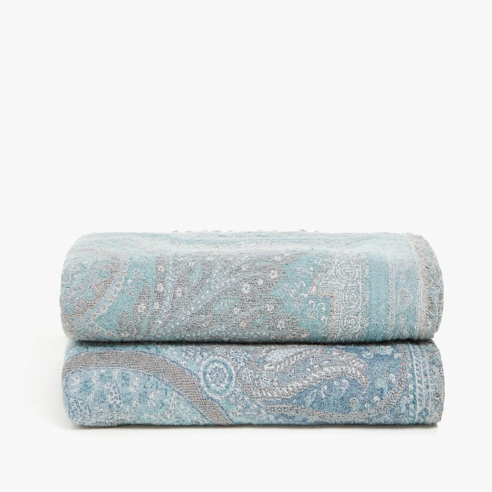 PAISLEY COTTON AND WOOL BLANKET