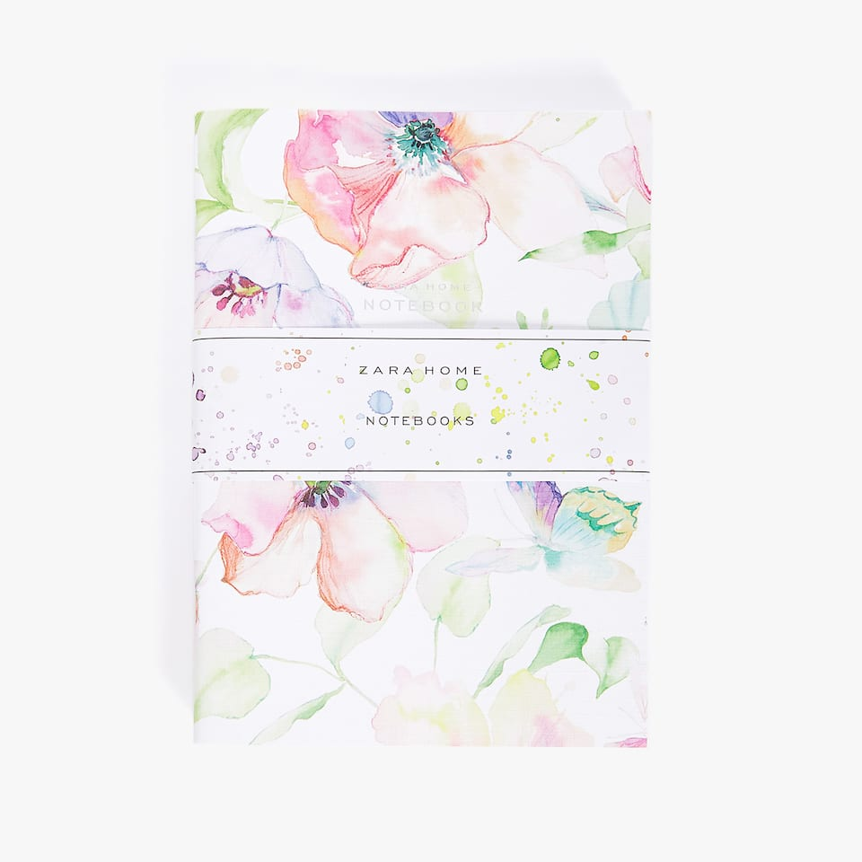 WATERCOLOUR PRINT NOTEBOOK (PACK OF 3)