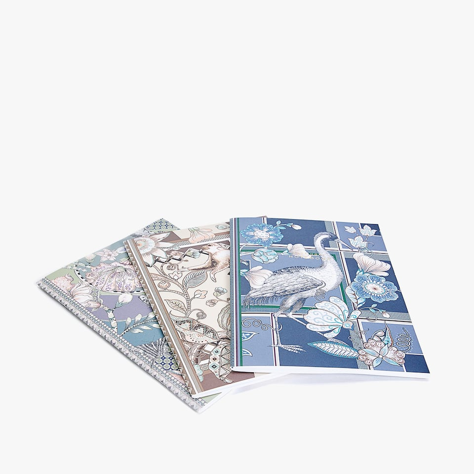 JUNGLE PRINT NOTEBOOK (PACK OF 3)
