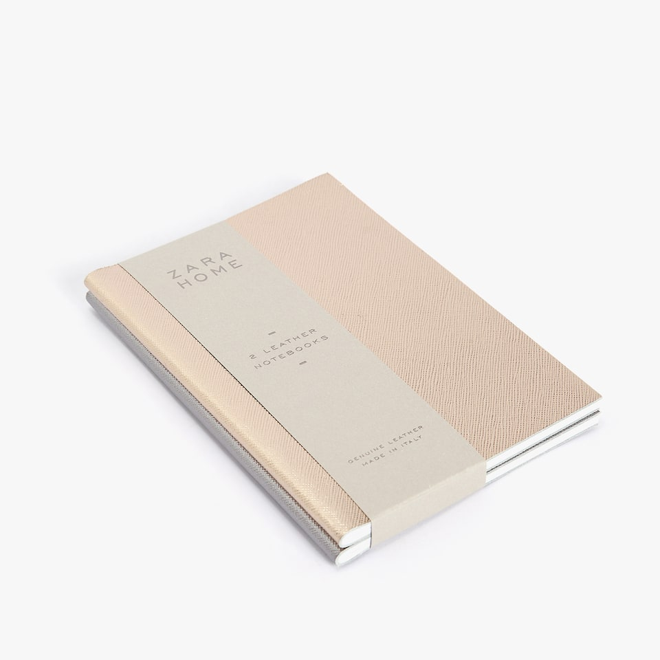 METALLIC FINISH NOTEBOOKS (SET OF 2)