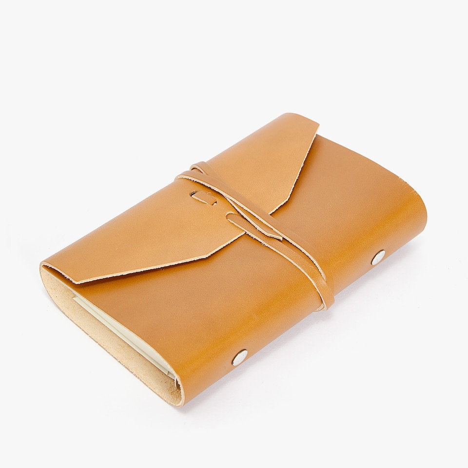 LARGE LEATHER STRAP DIARY